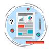 Business chart, Finanzanalyse Vektor-Konzept