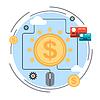 Pay per click, Online-Banking, Zahlungsverkehr Konzept