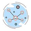Computernetzwerk, Cloud-Computing-Vektor-Konzept