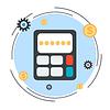 Budget Berechnung vecor Konzept