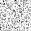 Retro elektronischen nahtlose Vektor-Muster