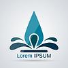 Abstrakte Wassertropfen Logo-Design-Vorlage Vektor