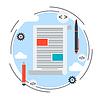 Internet-Blogging, Text-Inhalte, Web-Journalismus-Konzept