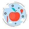 Apple-Symbol, Bildung, Wissen, Wissenschaft Konzept