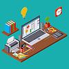Kreativen Prozess, Web-Design-Vektor-Konzept