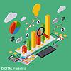 Digitale Marketing, Management Vektor-Konzept