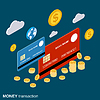 Geldtransaktion, finanzielle Transfer-Vektor-Konzept