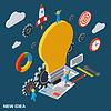 Kreative Idee Vektor-Konzept