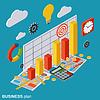 Businessplan, Bericht, Finanzstatistik Konzept