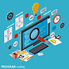 Programmcodierung, SEO-Optimierung Vektor-Konzept