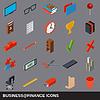 Vektor Cliparts: Wirtschaft und Finanzen Symbole Sammlung