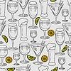 Векторный клипарт: Бесшовные шаблон с коктейль очки для ресторана O