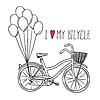Fahrrad mit Luftballons