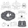 Kosmetik-Set Etikettenvorlage aus dem Emblem Element für