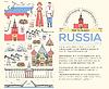 Land Russland reise Führung von Waren,