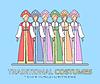 Der russischen nationalen Kleidung. Frauen `s traditionelle