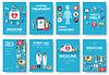 Medizin Informationskarten Set. Medizinische schablone