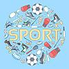 Rund Konzept von Sportgeräten Hintergrund.