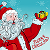 Vektor Cliparts: Weihnachten und Neujahr Grußkarte mit Weihnachts