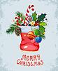 Vektor Cliparts: Weihnachten und Neujahr Grußkarten