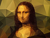 polygonal Mona Lisa portrait