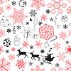 Weihnachten nahtlose rot-schwarz Muster