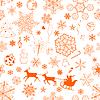 Weihnachten nahtlose Muster orange