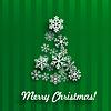 Weihnachtskarte mit Weihnachtsbaum der Schneeflocken