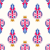 in Großbritannien Banner nahtlose Muster gemacht