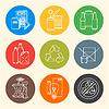 recyceln Symbole Abfalltrennung