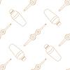 Векторный клипарт: Бармен оборудование контур бесшовные модели