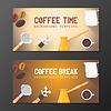 Векторный клипарт: кофе-брейк баннер фоны шаблоны