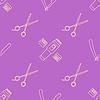 Векторный клипарт: декоративный элемент парикмахерские инструменты бесшовные модели
