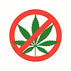 Векторный клипарт: марихуана марихуана плоский запрещено значок