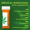Векторный клипарт: медицинская марихуана фито каннабиноиды концепция