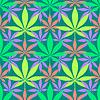Векторный клипарт: марихуана каннабис листья бесшовные модели