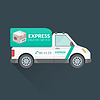 Векторный клипарт: грузовой автомобиль экспресс доставка