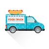 Векторный клипарт: доставка еды грузовик