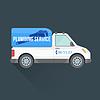 Векторный клипарт: водопроводным экспресс-транспортного грузового корабля