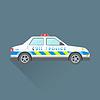 Векторный клипарт: Полиция аварийная служба автомобиль