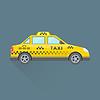 Векторный клипарт: такси и техническое обслуживание автомобилей