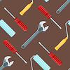 Векторный клипарт: дом реконструируют инструменты бесшовные модели