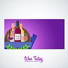 Vektor Cliparts: Wein Flyer Banner Hintergrund Vorlage