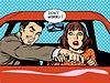 驾校驾驶员女人车 | 向量插图