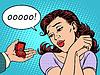 Векторный клипарт: Ювелирные изделия обручальное кольцо подарок женщина