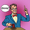 Векторный клипарт: Аукцион Аукционист продает