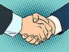 Векторный клипарт: Рукопожатие контракт бизнес-решения
