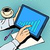 Векторный клипарт: Бизнес-концепция роста график бизнесмен