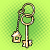 Векторный клипарт: брелок ключи от дома