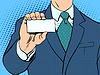 Векторный клипарт: Бизнесмен и бизнес-карты